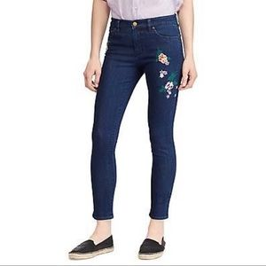 Ralph Lauren Embroidered Blue Skinny Jeans NWT